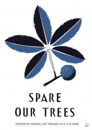 Plakat - Spare our Trees