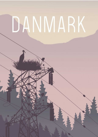 Plakat - Danmark Storken