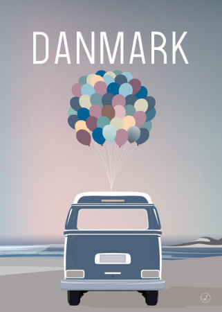 Plakat - Danmark dejligst, Balloonvan