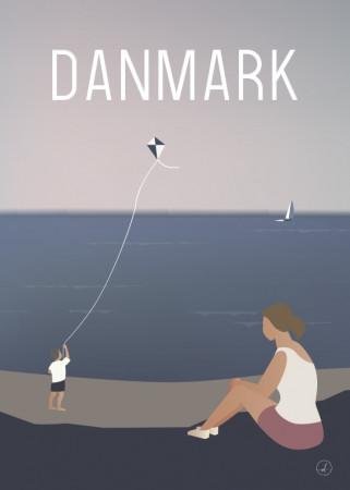 Plakat - Danmark dejligst, Drageflyvning
