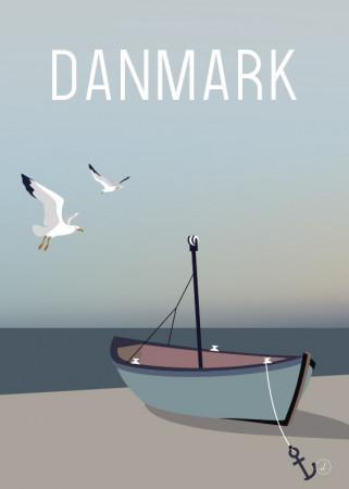 Plakat - Danmark dejligst, fishingboat