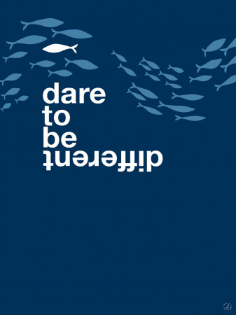 Plakat - Dare to be different, fish