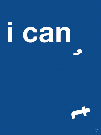 Plakat - I can, blue