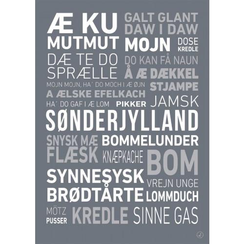 Plakat - Dialektplakat Sønderjylland