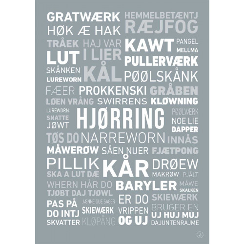 Plakat - Dialektplakat Hjørring