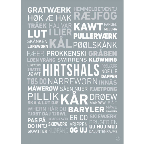 Plakat - Dialektplakat Hirtshals