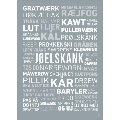 Plakat - Dialektplakat Nordjylland
