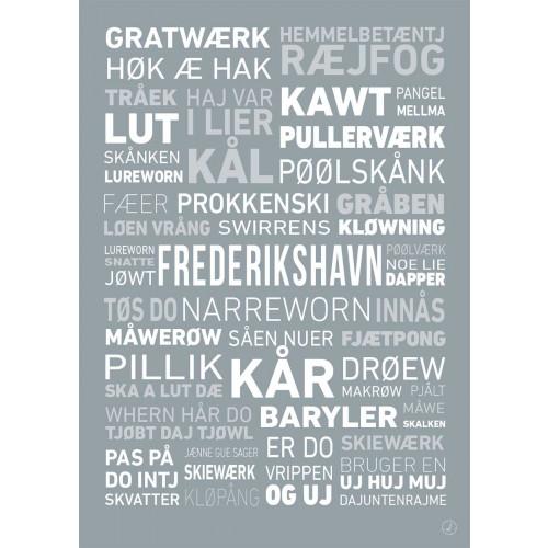 Plakat - Dialektplakat Frederikshavn