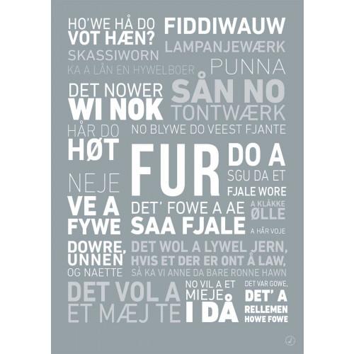 Plakat - Dialektplakat Fur