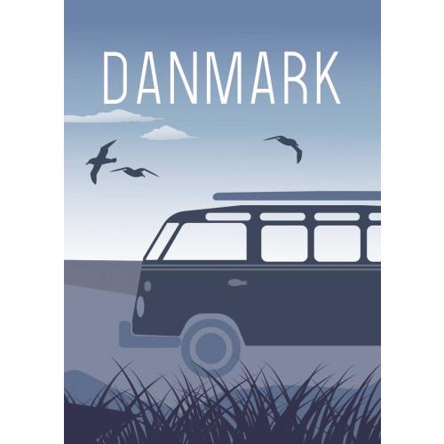 Plakat - Danmark Vesterhavet