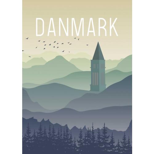 Plakat - Danmark Himmelbjerget