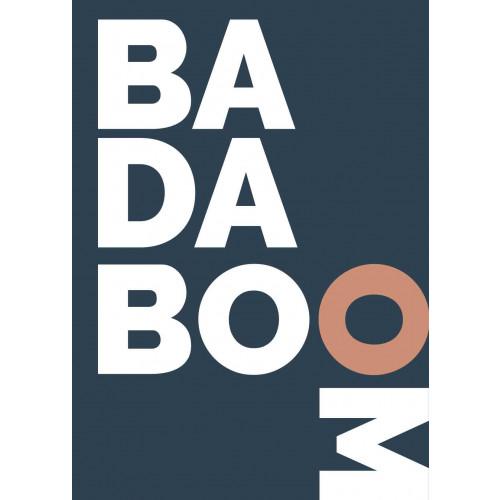 Plakat Badaboom Blå