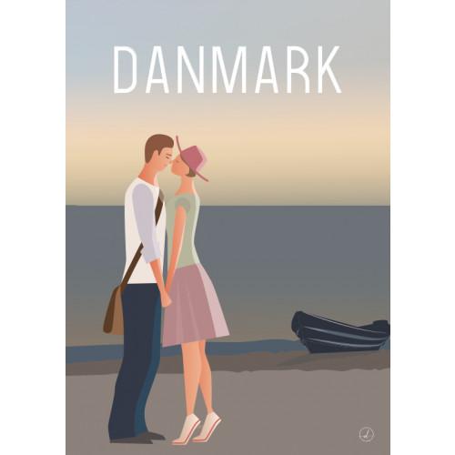 Plakat - Danmark dejligst, Hugs and kisses