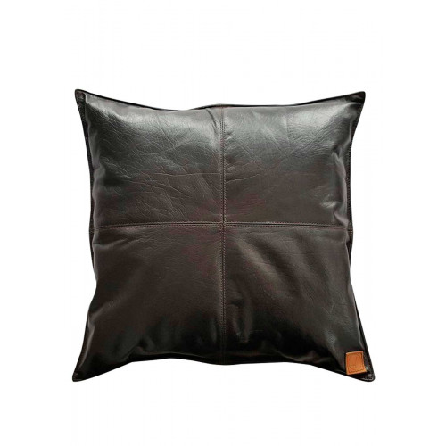 Shade læderpude, Mørkebrun (45x45) - REUSE BY AXL