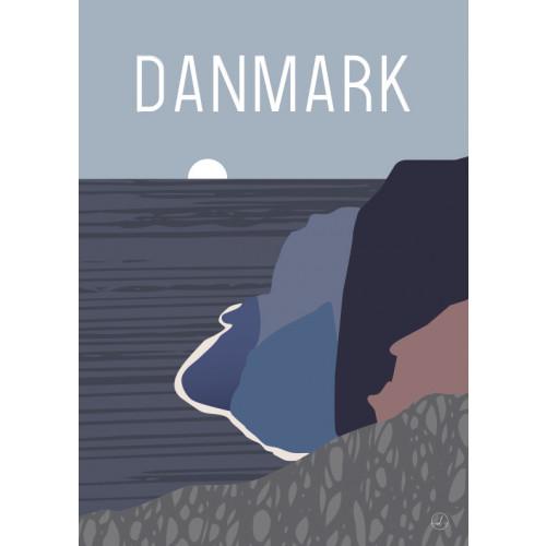 Plakat - Danmark dejligst, Skrænten, blå