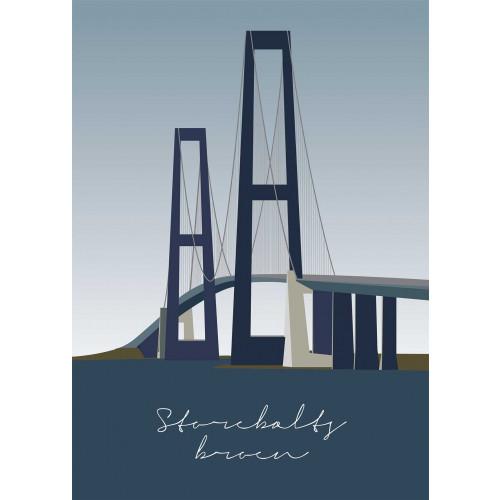 Plakat Storebæltsbroen