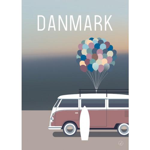 Plakat - Danmark dejligst, Surfballoon